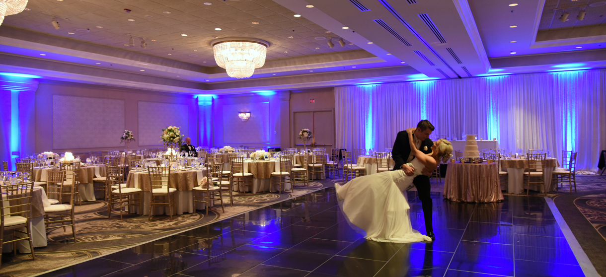 Wide view of ballroom