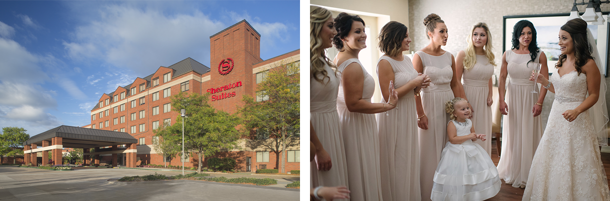 the Sheraton and bridesmaids